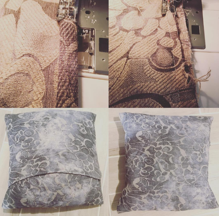 Primo progetto del 2017 tutorial per cuscini senza cerniera appeso a un filo - Foderare cuscino divano ...